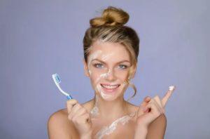 Зубная паста против прыщей
