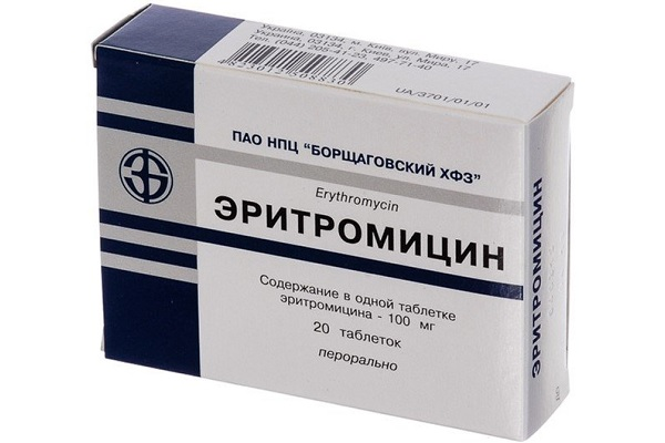 Таблетки Эритромицин от акне