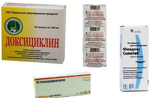 антибиотики при акне на плечах