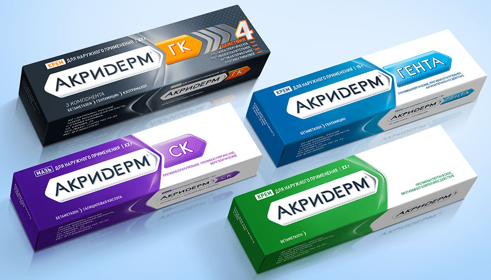 Разновидности препарата Акридерм