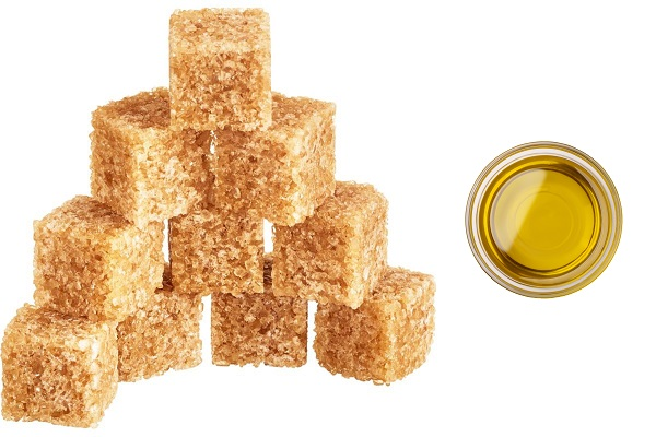 Основные ингредиенты для сахарного скраба
