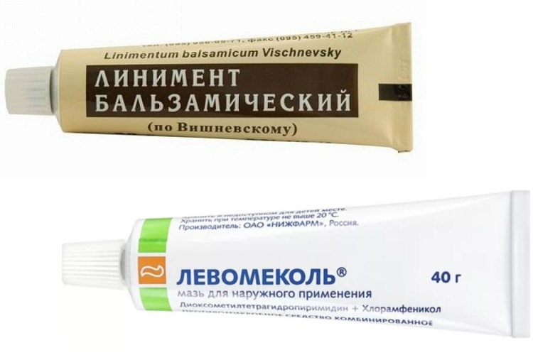 Мази Вишневского и Левомеколь